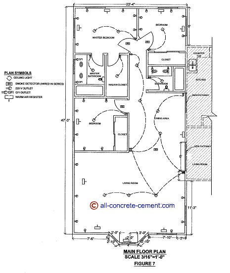 Home addition plans room addition blueprint garage floor for Room addition blueprints