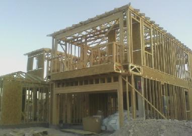 house framing, wood framing construction, wall framing