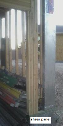 Shear panel, shear wall, shear wall panel, jamb column, jamb panel