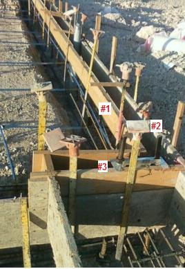 Monolithic pour 8 x42 trench foundation with 4 slab for Monolithic pour foundation