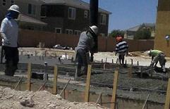 pouring a concrete slab, slab construction, cement floors, concrete pour