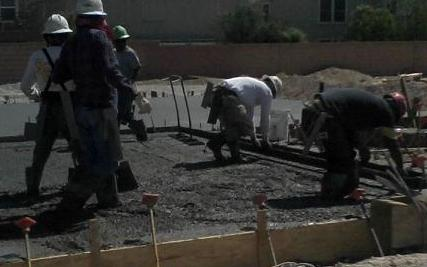 Suspended concrete slab, cement slab, concrete slab construction, pouring concrete slab