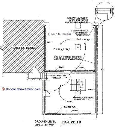 Garage floor plans garage floor home addition plans for Concrete slab plans