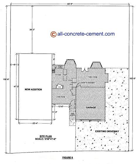 Home addition plans room addition blueprint garage floor for Concrete slab plans